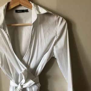 Wrap poplin blouse!